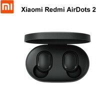 Hızlı kargo orijinal Xiaomi Redmi Airdots 2 TWS Bluetooth 5.0 kablosuz kulaklık Stereo bas kulakiçi