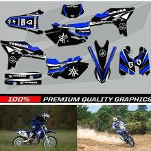 Бесплатные Индивидуальные мотоцикл команда графика и фоны наклейки комплекты для Yamaha YZF250 2010-2013 WR450F 2012