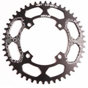 Image 4 - Deckas 104BCD 40/42/44/46/48/50/52T Mountain Fiets Kettingwiel Mtb fiets Crankstel Aluminium Smalle Brede Kettingblad Bcd 104