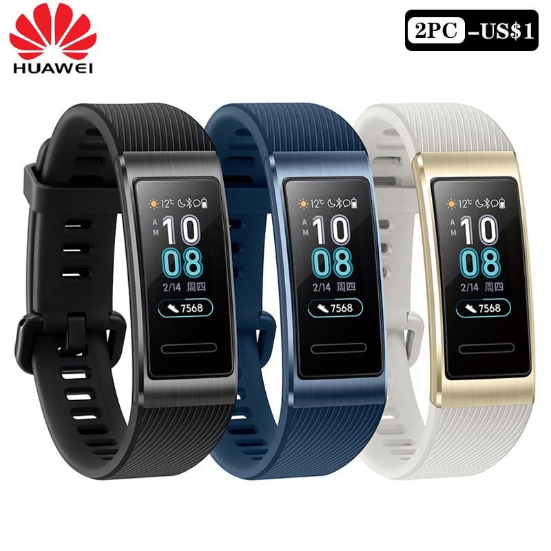 Huawei Band 3 Pro Band 3 pulsera inteligente Banda 3 0,95 pulgadas rastreador natación impermeable Bluetooth Fitness Tracker pantalla táctil