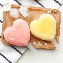 Clearance Sale 2pcs Silicone Heart Ice Cream Mold Pop Popsicle Mold Pudding Tray Pan Kitchen Frozen Lolly Mould Ice Cream Maker цена и фото