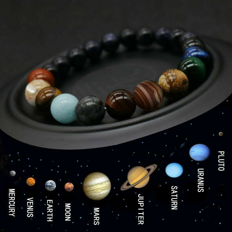 Fashion Universe Eight Planets Bead Bracelet Natural Stone Chakra Yoga Solar Bracelet