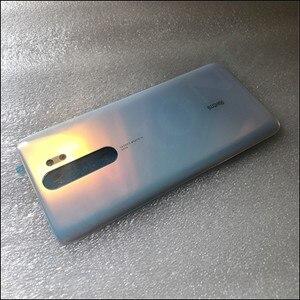 Image 3 - Oryginalna obudowa telefonu 4D obudowa baterii pokrywa dla Xiaomi Redmi Note 8 Pro części zamienne bateria tylna pokrywa drzwi darmowa wysyłka