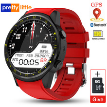 F1 akıllı saat erkekler SIM kart spor SmartWatch GPS destek pedometre Bluetooth 4.0 kamera kol saati kadın IOS Android telefon için