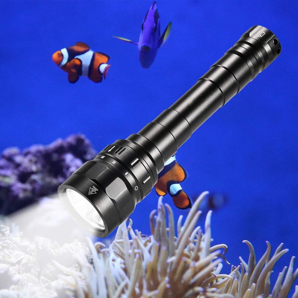 DF30 Scuba Diving Light 18650 LED Flashlight Powerful 3100lm Triple Cree XPL LED Lamp Underwater Searchlight Torch
