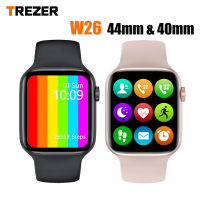 TREZER IWO W26 reloj inteligente de pantalla completa 40MM 44MM hombres mujeres Smartwatch impermeable ver 6 reloj deportivo inteligente para Android IOS teléfono