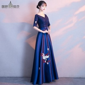 Image 4 - 2020 プロモーション vestido デ · フェスタ宴会イブニングドレス 2020 の新薄い気質コーラスパフォーマンスホストスカート女性