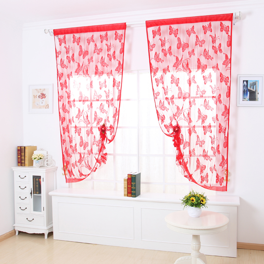 Muticolor Line Butterfly Yarn String Curtain For Bedroom/Living Room String Kitchen Door Curtain Decoration Home Textile