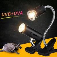 EUA Plug 110V UVA UVB Ajustar A Temperatura De Calor Réptil Tartaruga Lâmpadas Luz Traseira Tartaruga Cálcio Aquário Aquecedor De Solário