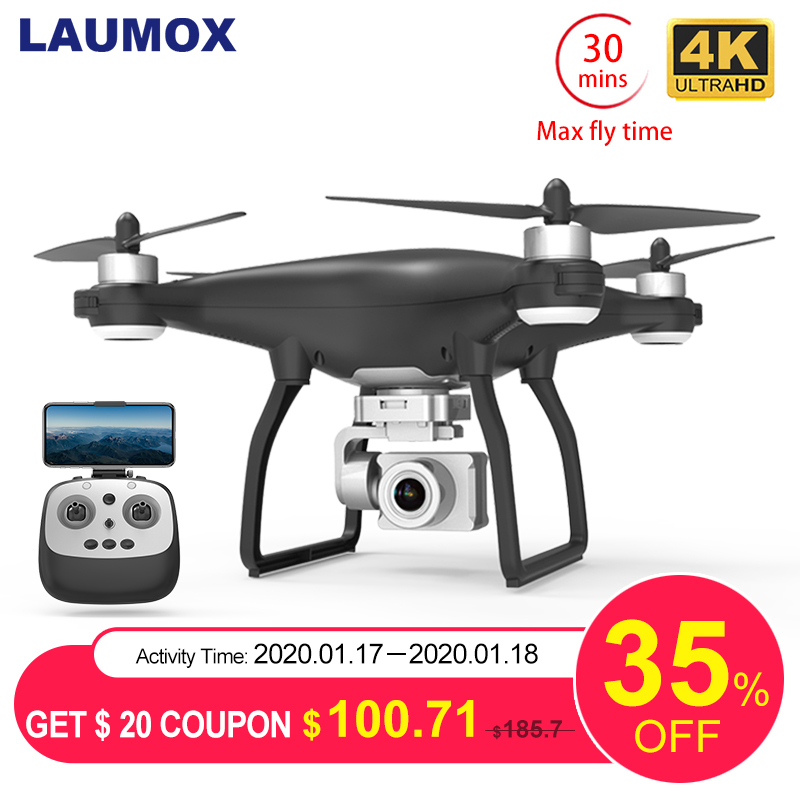 LAUMOX X35 Drone GPS WiFi 4K HD <font><b>Camera</b></font> Profissional RC Quadcopter Brushless Motor Drones Gimbal Stabilizer 30-minute flight image