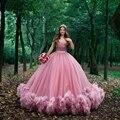 16 милых розовых пышных платьев с открытыми плечами, бальное платье с рюшами, 15 платьев для выпускного вечера, Vestido De 15 Anos Quinceanera ففdress ن
