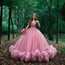Dress Ball-Gown Quinceanera-Dresses Sweet 16 Pink Off-Shoulder Ruched No 15 Vestido-De-15-Anos