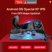 "Junsun New 4G ADAS Car DVR Camera 10"" Streaming RearView Mirror 1080P Android WiFi GPS Dash Cam Registrar Special Video Recorder(China)"