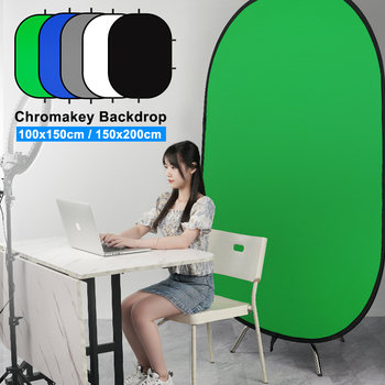 60x90cm 24x35 5 in 1 multi reflector photography studio photo oval collapsible light reflector handhold portable photo disc 100x150CM/150x200CM Collapsible Portable Reflector Blue And Green Screen Chromakey Photo Studio Light Reflector For Photography