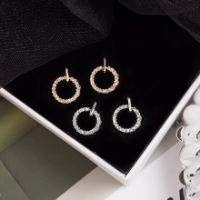 2020 new Korean version of fashion refined girl earrings joker temperament small fresh round earrings 925 silver