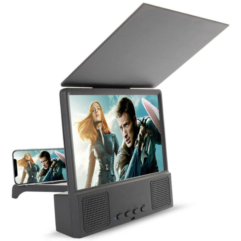 Universal 8 12 Inch Mobile Phone Screen Magnifier 3D HD Video Amplifier Smartphone Stand