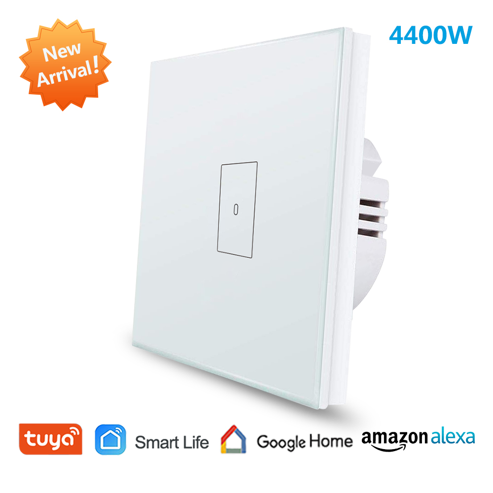 EU WiFi Boiler Water Heater Switch 4400W Tuya Smart Life App Remote Control ON OFF Timer Voice Control Google Home Alexa Echo