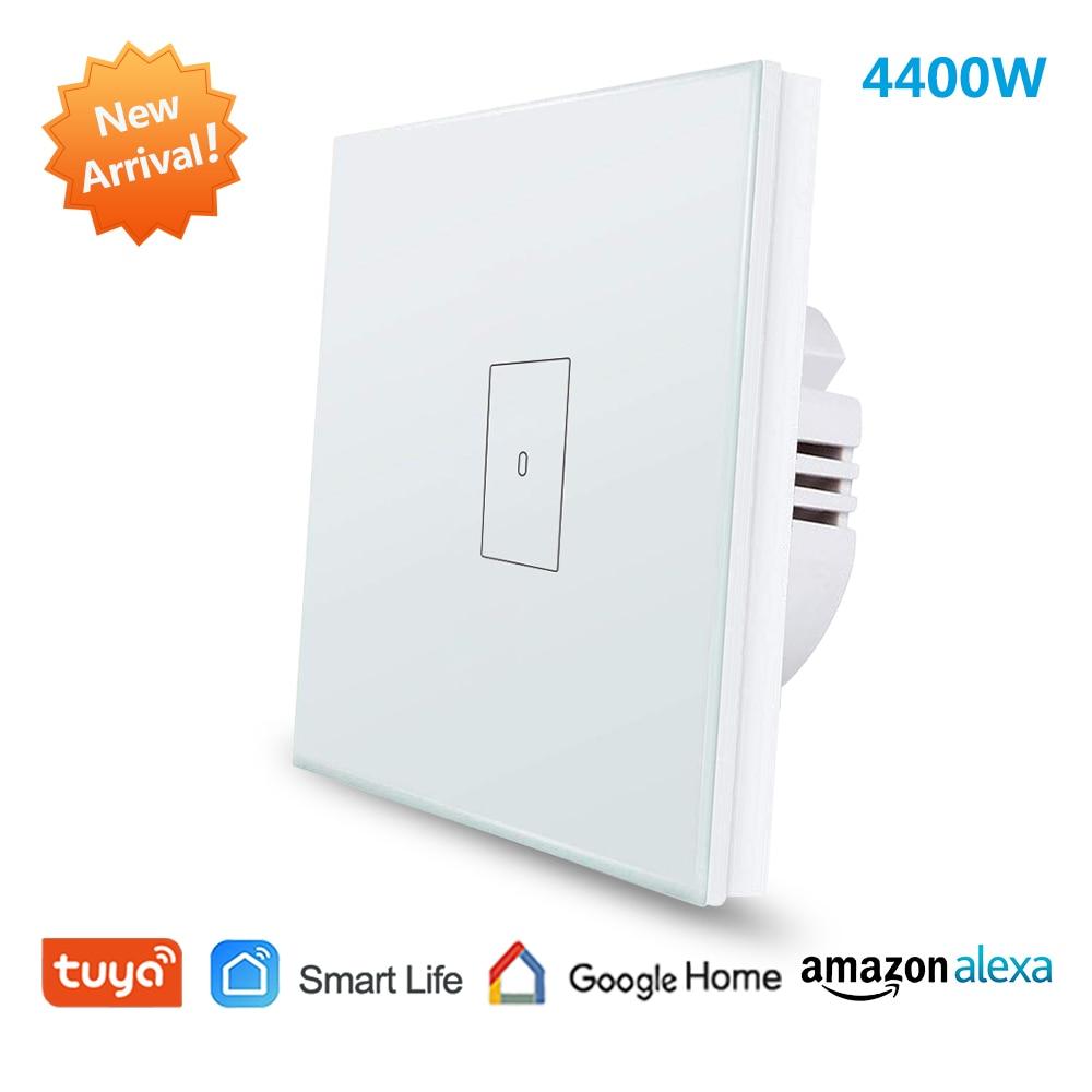 EU WiFi Boiler Water Heater Switch 4400W Tuya Smart Life App Remote Control ON OFF Timer Voice Control Google Home Alexa Echo