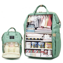 купить New Waterproof Maternity Bags Baby Mummy Diaper Bags Printed Nappy Bag Mom Backpack For Stroller Nursing Baby Care по цене 1185.39 рублей