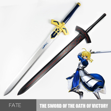 Fate Stay Night Wooden Sword Weapon Alter Saber Anime Cosplay Excalibur Play Game Wood Samurai Katana Knife Espada Toys For Teen cheap DOYOQI wooden knife sword 115cm 6 years old Unisex Sword Weapon Category keep away from fire