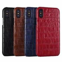 יוקרה עור טלפון מקרה עבור iPhone 6S 7 8 בתוספת Xs 11Pro 3D תנין דפוס בציר מקרה עבור סמסונג s8 S9 S10 בתוספת, CKHB EY
