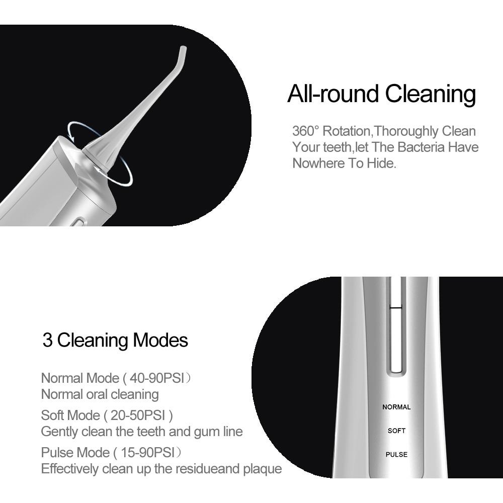 Power Dental Water Flosser Oral Irrigator 145ml Dental Oral Care Teeth Cleaner Oral Irrigator Floss Water Jet