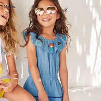 Little maven-vestidos sin mangas para niñas, tela vaquera de unicornio, traje de princesa para niños de 7 años