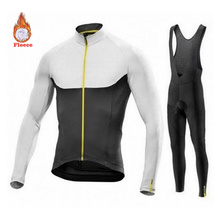 mavic cycling jersey NW Bike Winter Brand Fleece Long Sleeve Bike Suit Set Racing Bike Ride Set Men #8217 s Bike Clothing cheap honu fast 100 Polyester Factory Direct Sales 80 Velveteen and 20 Stretch Spandex cycling jersey set GEL Breathable Pad