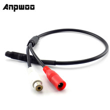 Anpwoo Dc Connector Mini Micro Audio Sound Monitor Audio Pickup Apparaat Terminals Dc Power Kabel Voor Camera Cctv Microfoon Video(China)