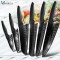 Küche Messer 3.5 ''5'' 7'' 8'' Chef 7CR17 440C Edelstahl Nicht Stick Klinge Brot Slicer Utility Santoku Messer 6 stück Set-in Küchenmesser aus Heim und Garten bei