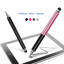 Handwriting Capacitive Pen Transparent Suction Cup Dual Touch two-in-one Reader High Stability Metal Painting Pen Touch Pen