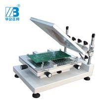 طابعة استنسل يدوية عالية الدقة لحام SMT طابعة شاشة صلب عالية الدقة طباعة شاشة لحام PCB