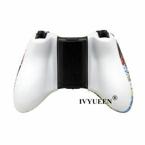 Image 5 - IVYUEEN 20 צבעים עבור Microsoft Xbox 360 בקר מגן סיליקון מקרה העברת מים הדפסת עור עם אגודל אוחז כיסוי