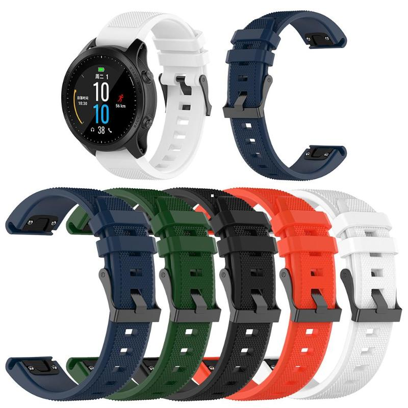 22mm Silicone Wrist Strap Watch Band for Garmin Fenix6 Forerunner945 935 image