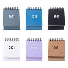 Настольный мини календарь 2021 Вертикальный флип 2020 стол/настенный