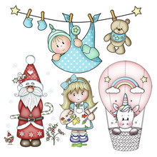 Nieuwe Eenhoorn Baby Meisje Metalen Stansmessen Beer Gingerbread Santa Ballon Pop Embossing Stencil DIY Scrapbooking Kaart Decoratie(China)