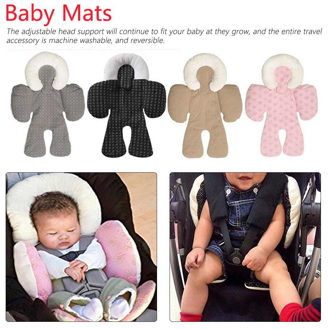 Newborn Baby Stroller Padded Cushion Car Seat Head Body Support Pillow Liner Mat