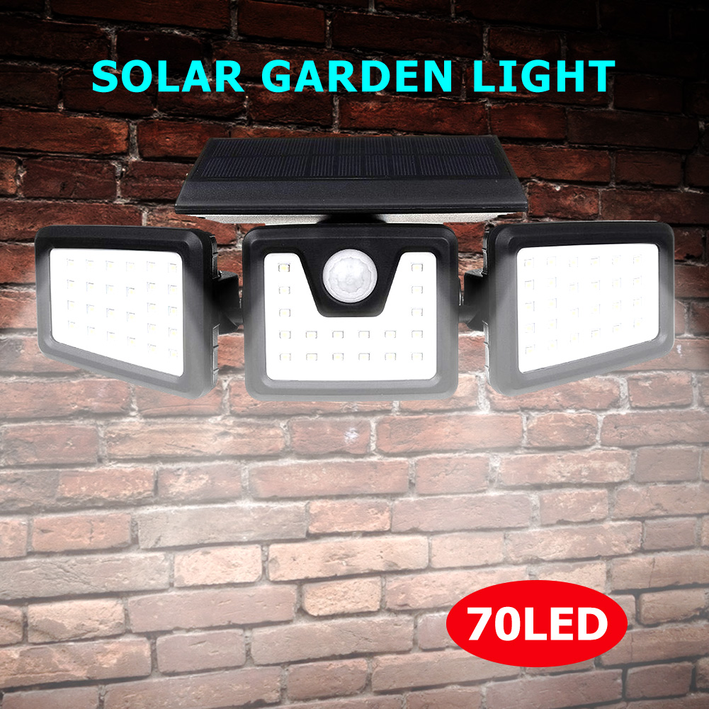 <font><b>70</b></font> <font><b>LED</b></font> <font><b>Solar</b></font> Light Folding Rotatable Motion Sensor Street Waterproof Outdoor Garden Lamp Lighting Home Wall Decoration image