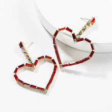 2019 Summer Fashion Jewelry Exaggerated Acrylic Love Heart Shaped Earrings Simple Wild Womens Party