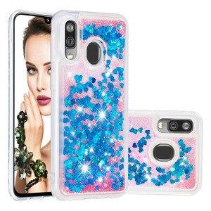 Image 2 - Paillettes Liquide Quicksand Téléphone étuis pour samsung Galaxy A20 A30 A40 A60 A80 A90 A10e A20e A2 Noyau M40 Housse De protection Souple TPU Coques