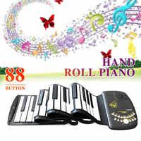 مرنة جهاز إلكتروني نشمر البيانو مع المتكلم بصوت عال 88 مفتاح لوحة المفاتيح المدرسة الآلات هدية لوحة المفاتيح الإلكترونية البيانو