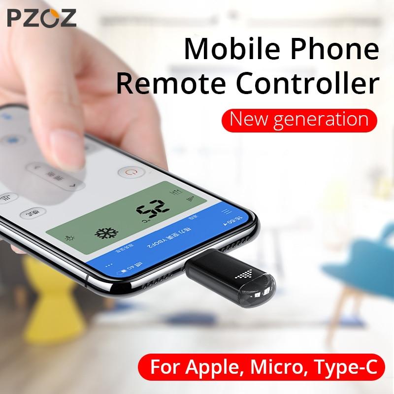 PZOZ Universal IR control remoto para iphone Samsung Xiaomi Smart infrarrojo control remoto adaptador de teléfono para TV aircondition