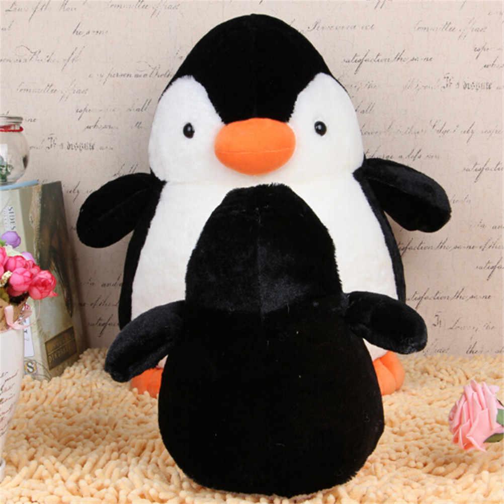 1 adet güzel sevimli penguen doldurulmuş ve peluş oyuncaklar yumuşak çocuklar için en iyi hediyeler yumuşak ve rahat boyun yastık