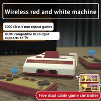 Retro classico nostalgico 2.4G Wireless Console di gioco Player Dual gamepad costruito nel 1000 giochi Home Game per Console di gioco TV