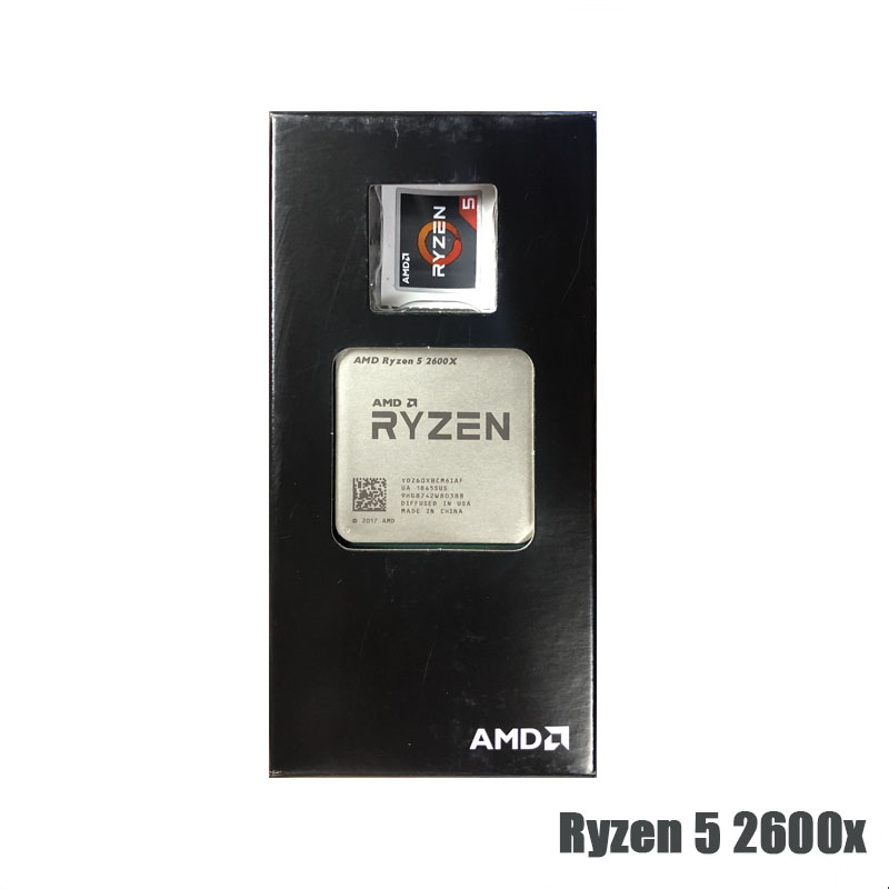 AMD Ryzen 5 2600X R5 2600X 3.6GHz Six-Core Twelve-Thread CPU Processor L2=3M L3=16M 95W Socket AM4 NEW