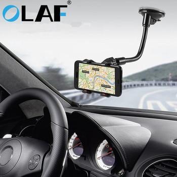 Olaf téléphone support pour voiture Flexible 360 degrés Rotation montage pare-brise support pour téléphone Mobile pour téléphone voiture téléphone support GPS
