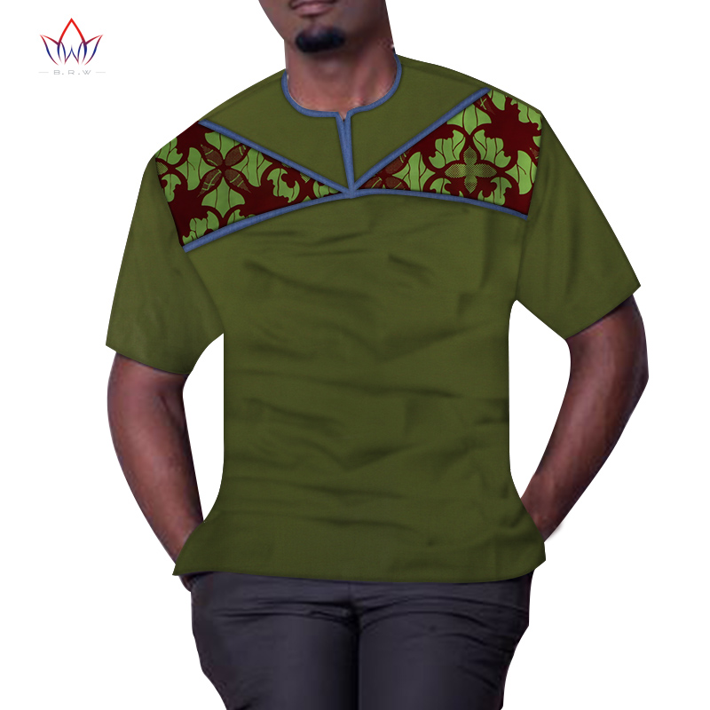 New dashiki <font><b>african</b></font> <font><b>men</b></font> clothes bazin short sleeve <font><b>wax</b></font> o-neck <font><b>african</b></font> top Plus Size print <font><b>african</b></font> <font><b>mens</b></font> <font><b>Shirts</b></font> clothing WYN1086 image