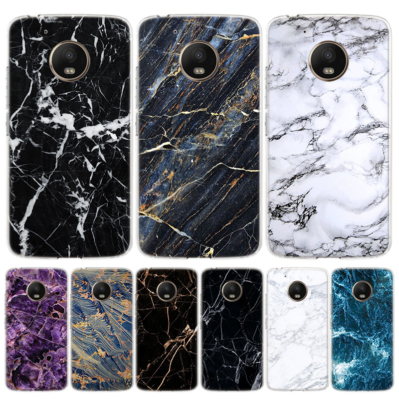 Black Marble Grain Simplicity Phone Case For Motorola Moto G7 G8 G6 G5S G5 E6 E5 E4 Plus Power G4 One Action X4 EU Gift Coque Co