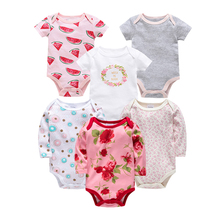 Long Sleeve Newborn Baby Girls Bodysuits Set 100% Cotton Infant Jumpsuit Onesie Clothing Summer Baby Girls Boys Clothes Roupa de цена 2017