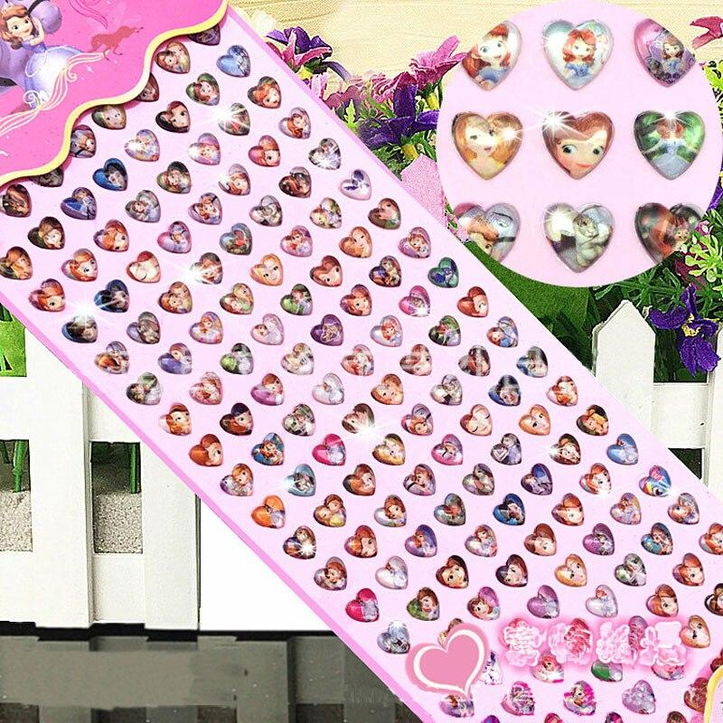 Children's Cartoon Crystal Diamond Altman Sticker Gem Acrylic Sticker Christmas Gift 160pcs